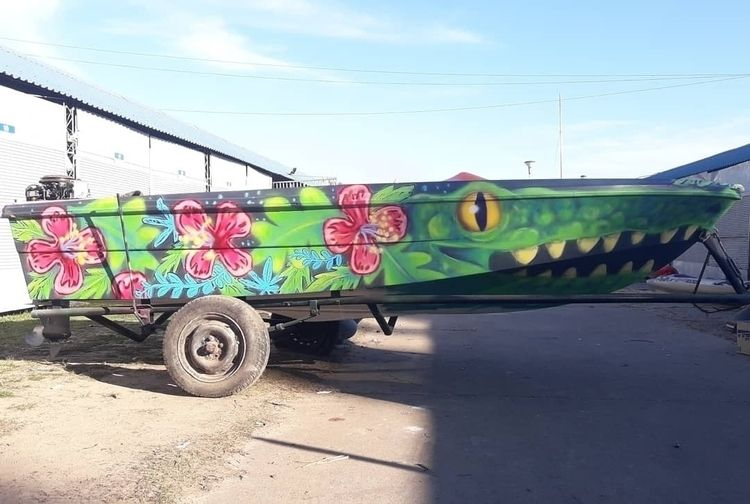 boat paint year - spraypaint, psicotropical - pargas | ello