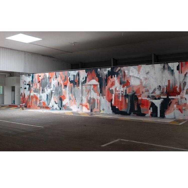 Wall painting abandoned factory - soemone | ello