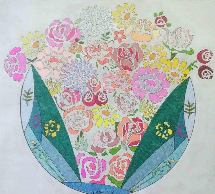 Petal Palette floral piece comm - saralamothe   ello