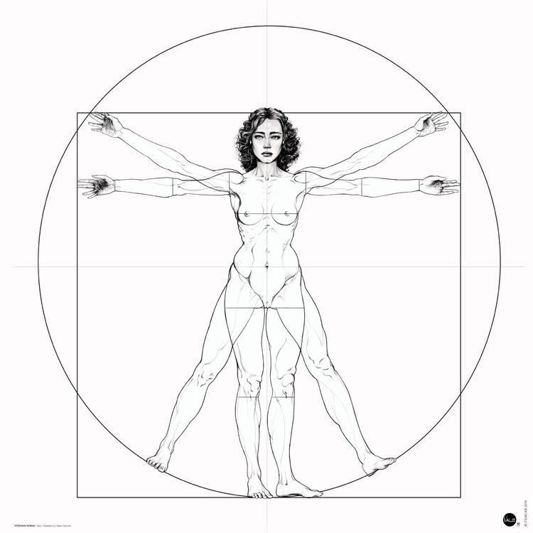 VITRUVIAN WOMAN / BW version Il - itemlab_designstudio | ello