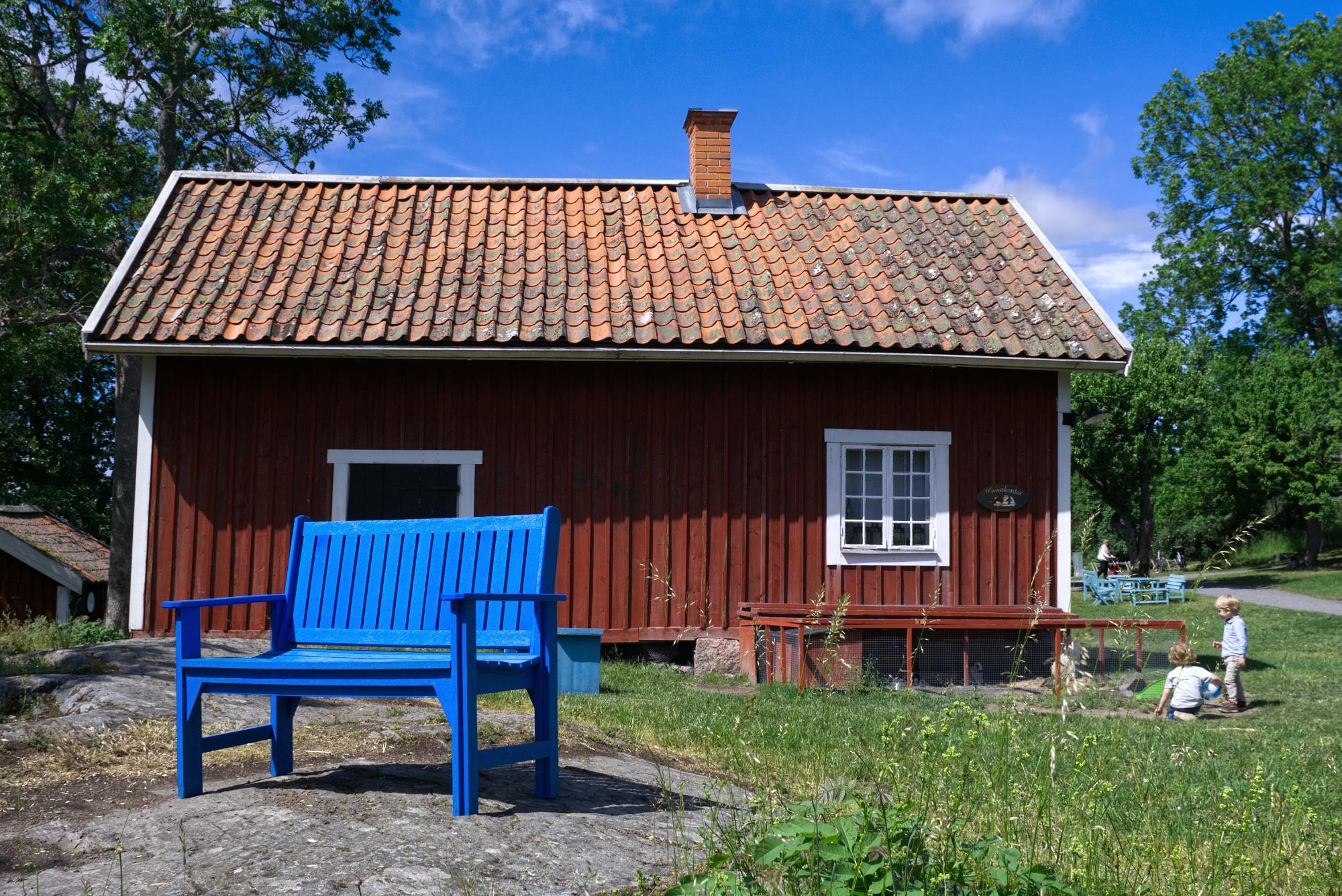 Blue bench - photography, sweden - marcushammerschmitt   ello