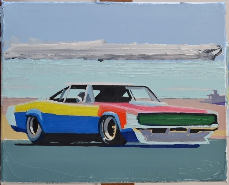 Untitled (musclecar) 2018. oil  - albertzwaan | ello