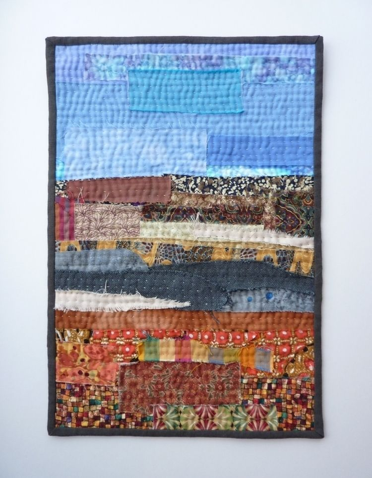Abstract Landscape - layers raw - firehorsetextiles | ello