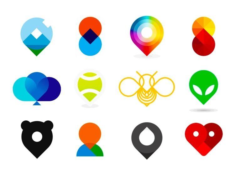 Pin pointers icons / logo desig - alextass | ello