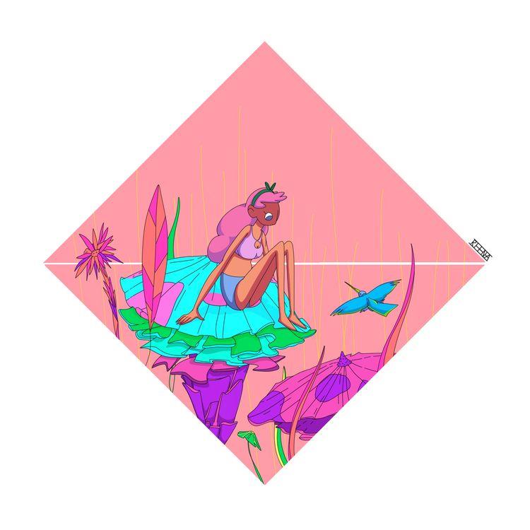 Warm Character Illustration - charcterdesign - rowenareena | ello