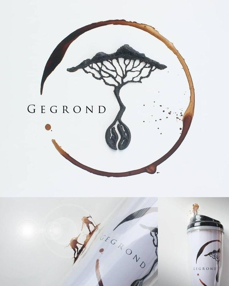 Gegrond Logo, Commissioned Work - coffeetopia | ello