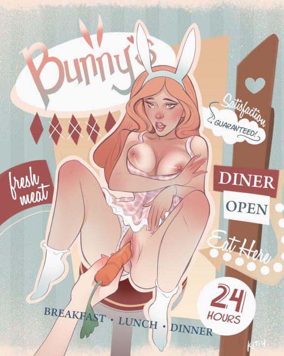 Diner | - nsfw, poster, design, digitalart - kittyangela | ello