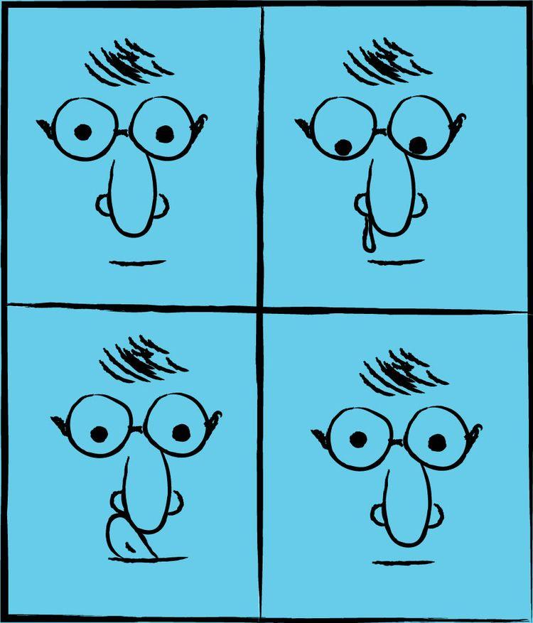 Runny Nose - nose, face, sick, comic - downsign | ello