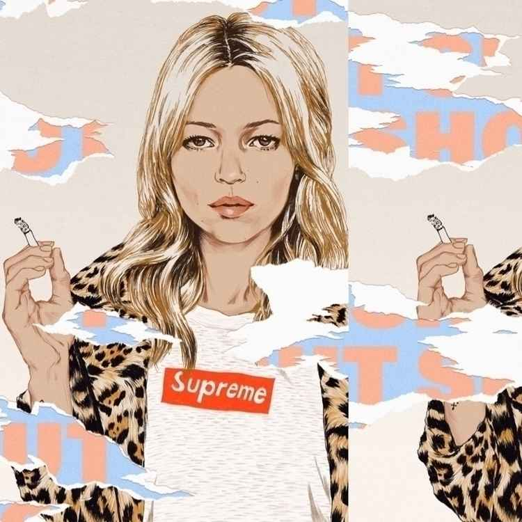 Kate Moss x Supreme