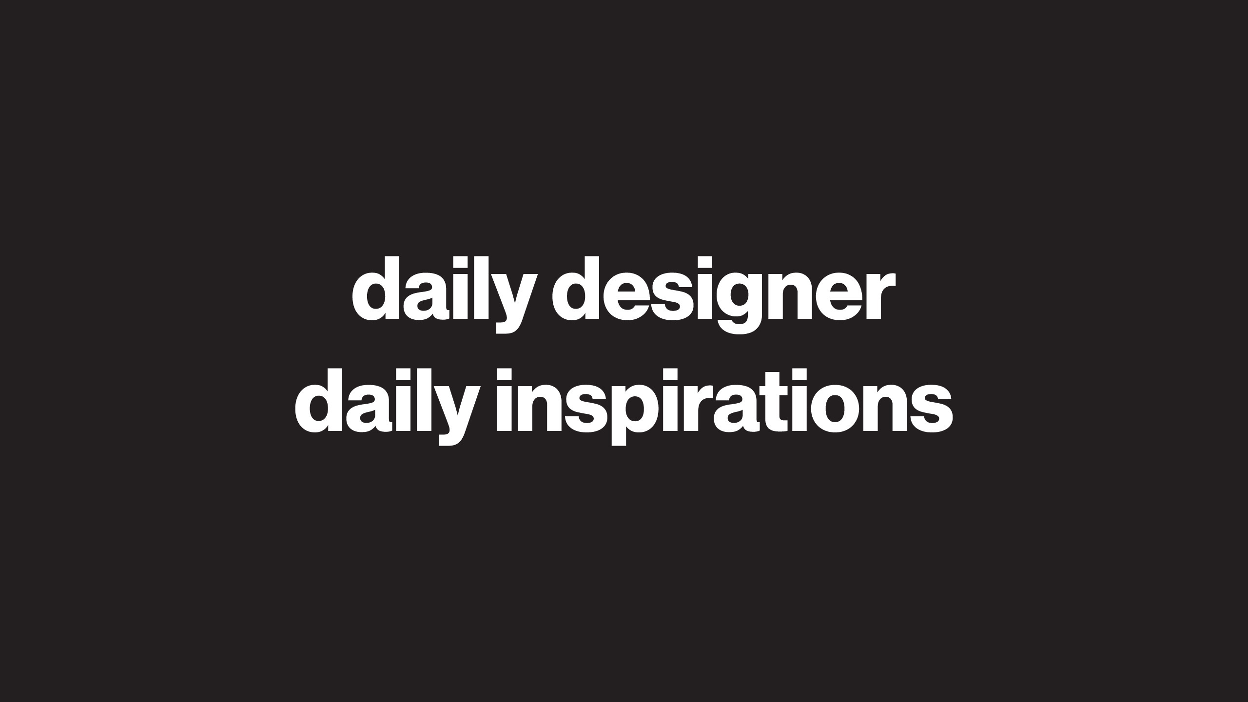 (@dailydesigner) Cover Image