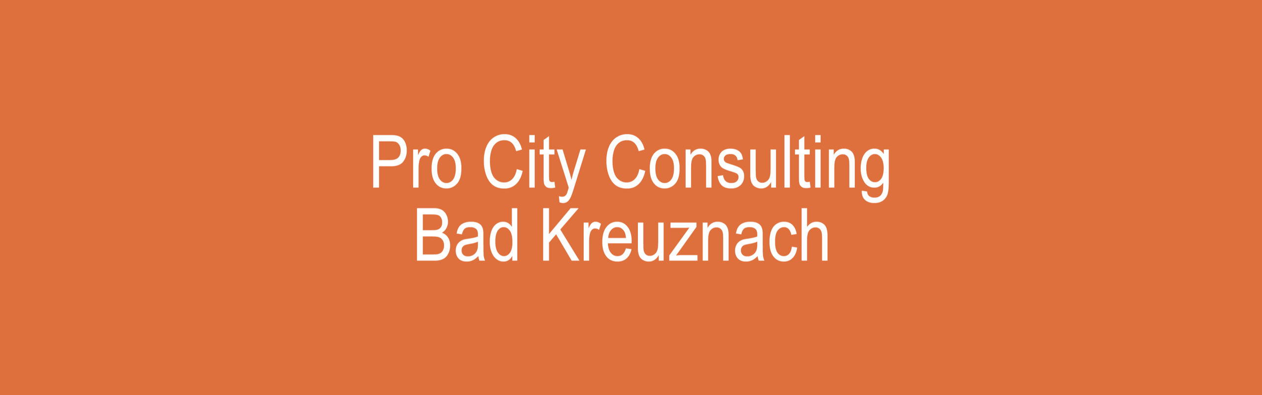 Pro City Consulting UG (@pro-city-consulting) Cover Image
