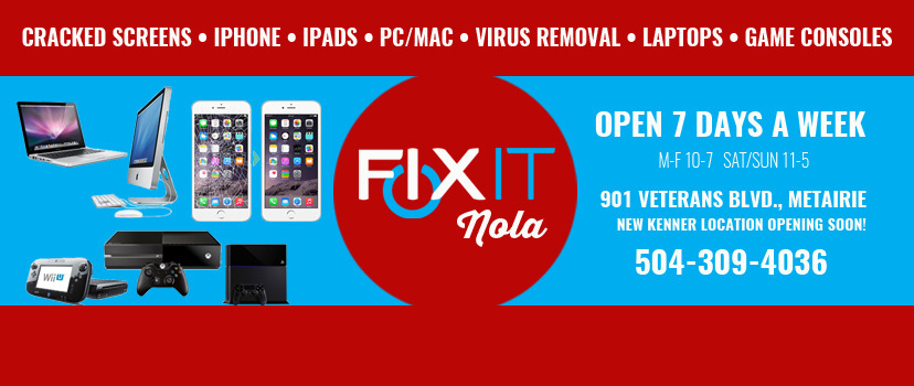 Fixit Computer & iPhone Repair (@fixitnola) Cover Image