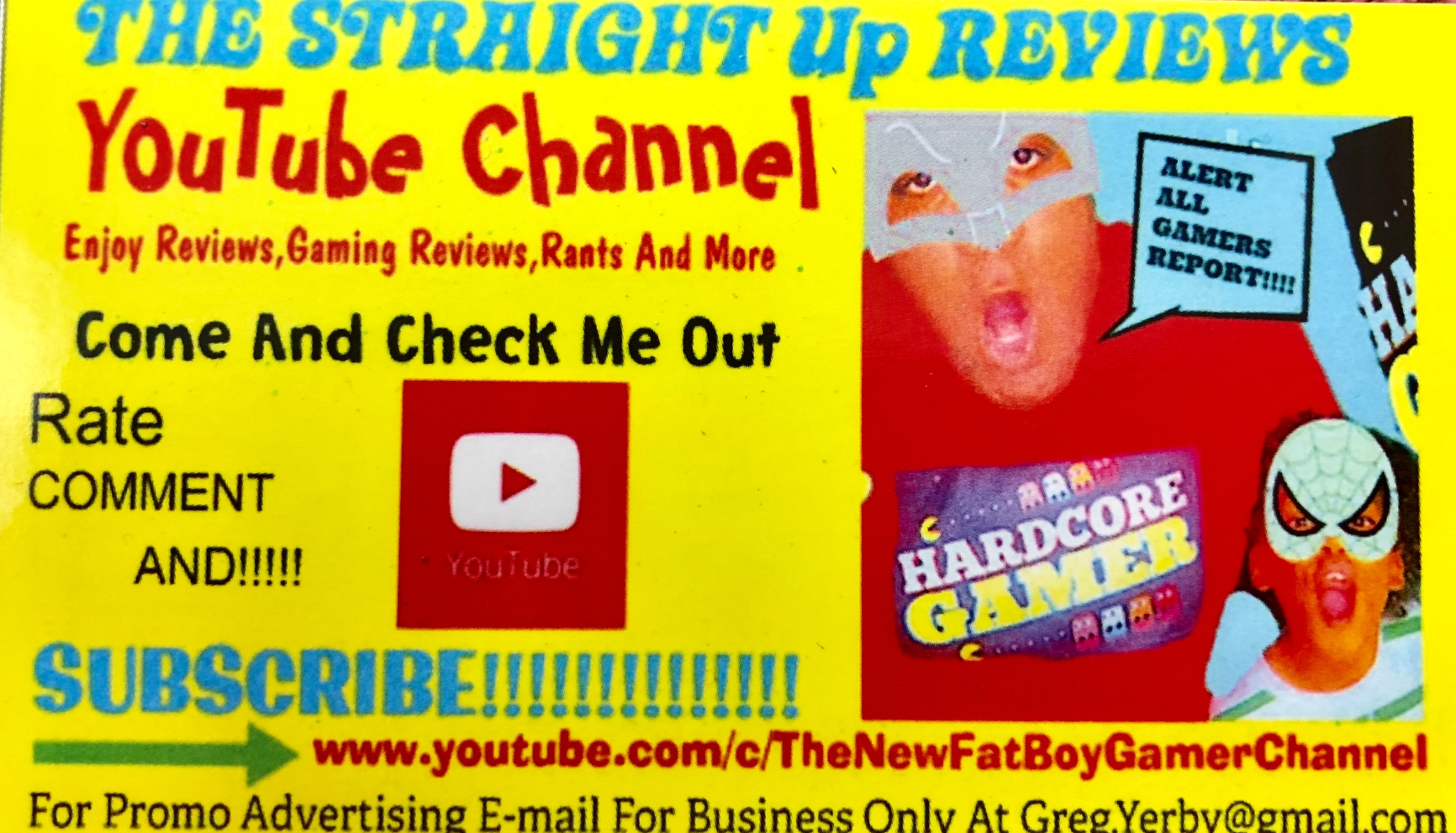 Straight Up Reviews (@gregthegamer) Cover Image