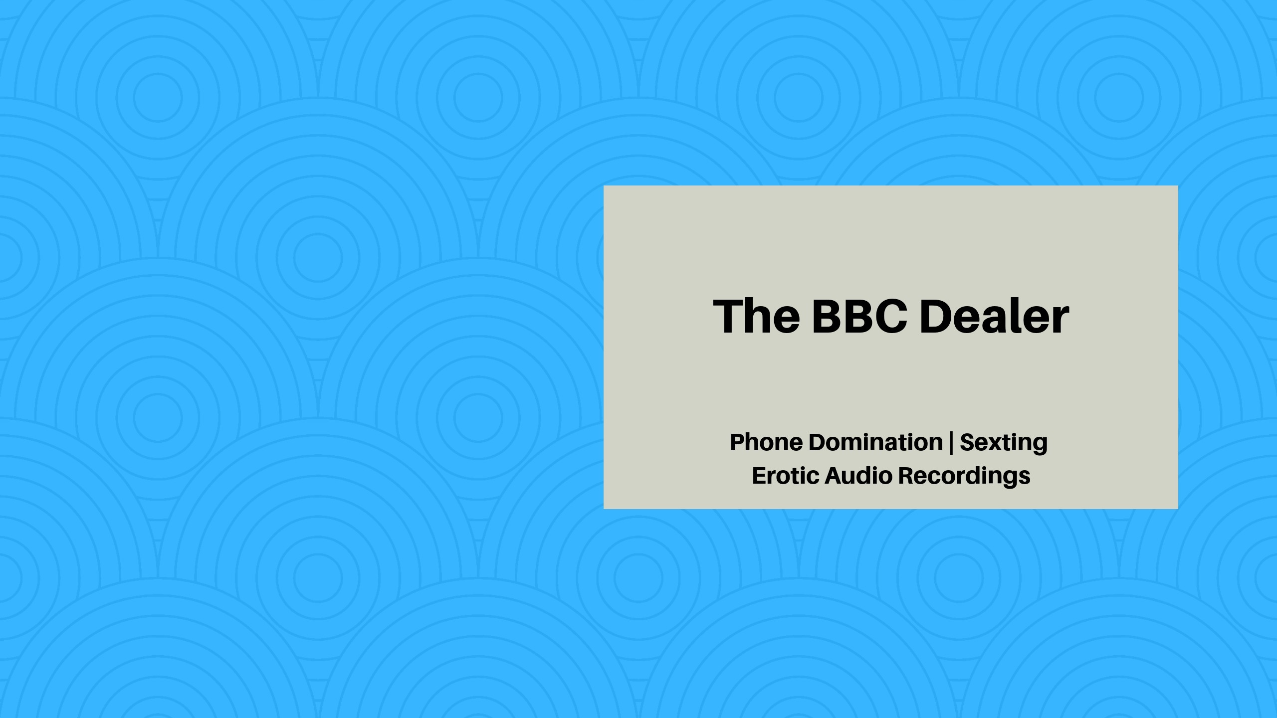 Naima The BBC Dealer (@thebbcdealer) Cover Image