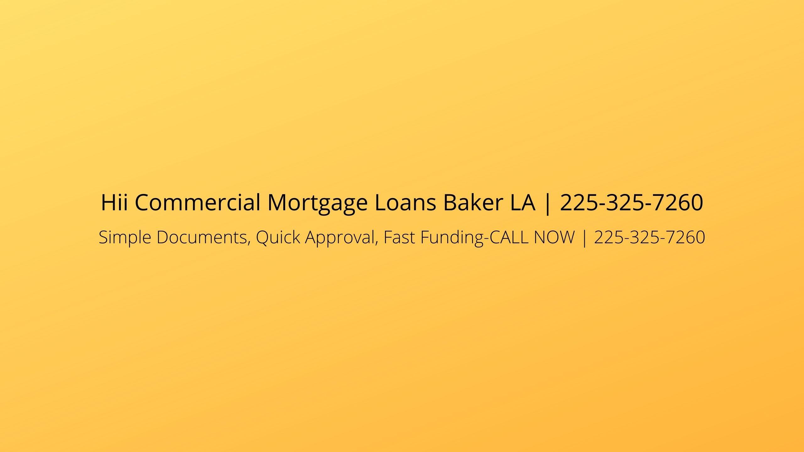 Hii Commercial Mortgage Loans Baker LA (@barcom) Cover Image