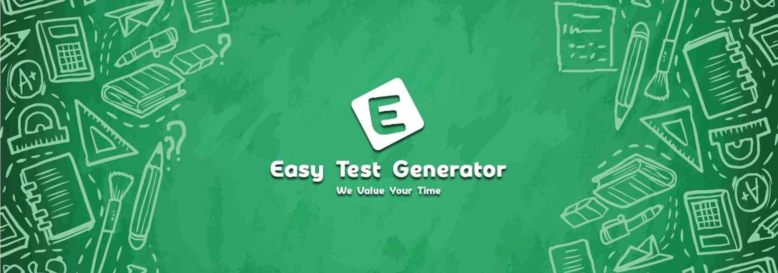 Easy Test Generator - Online Question Paper Maker (@easytestgenerator) Cover Image