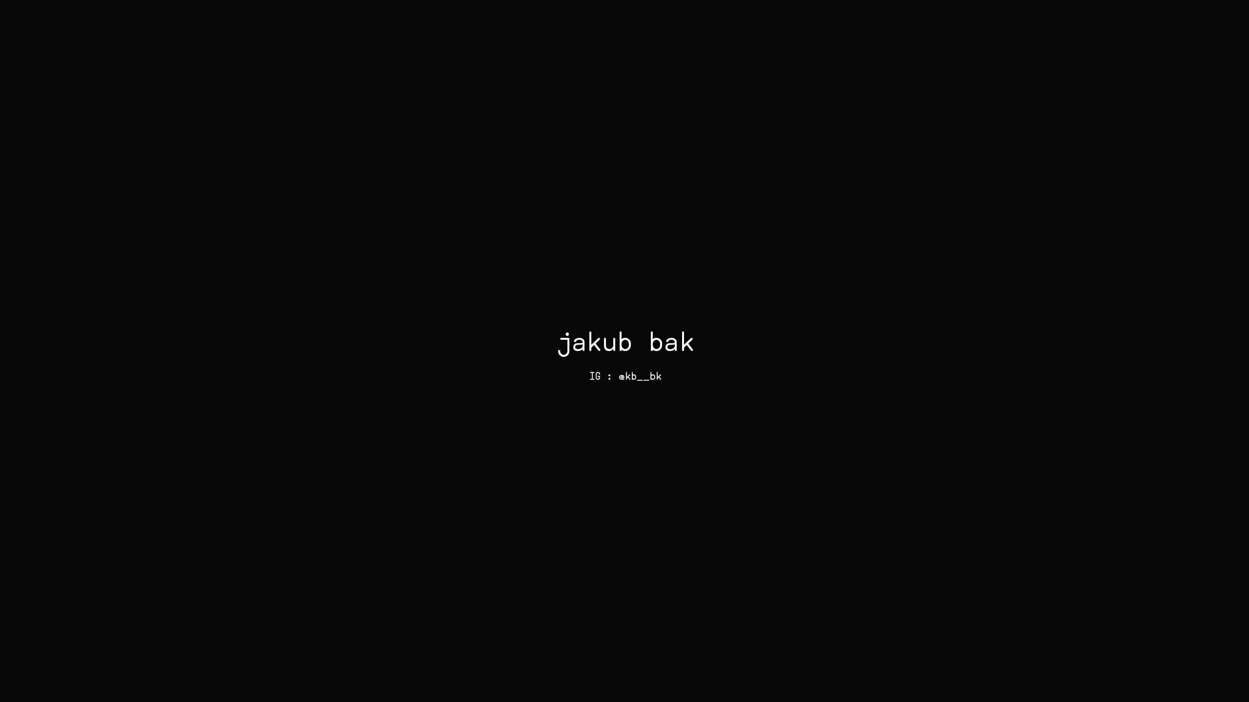 jakub bak (@kbbk) Cover Image