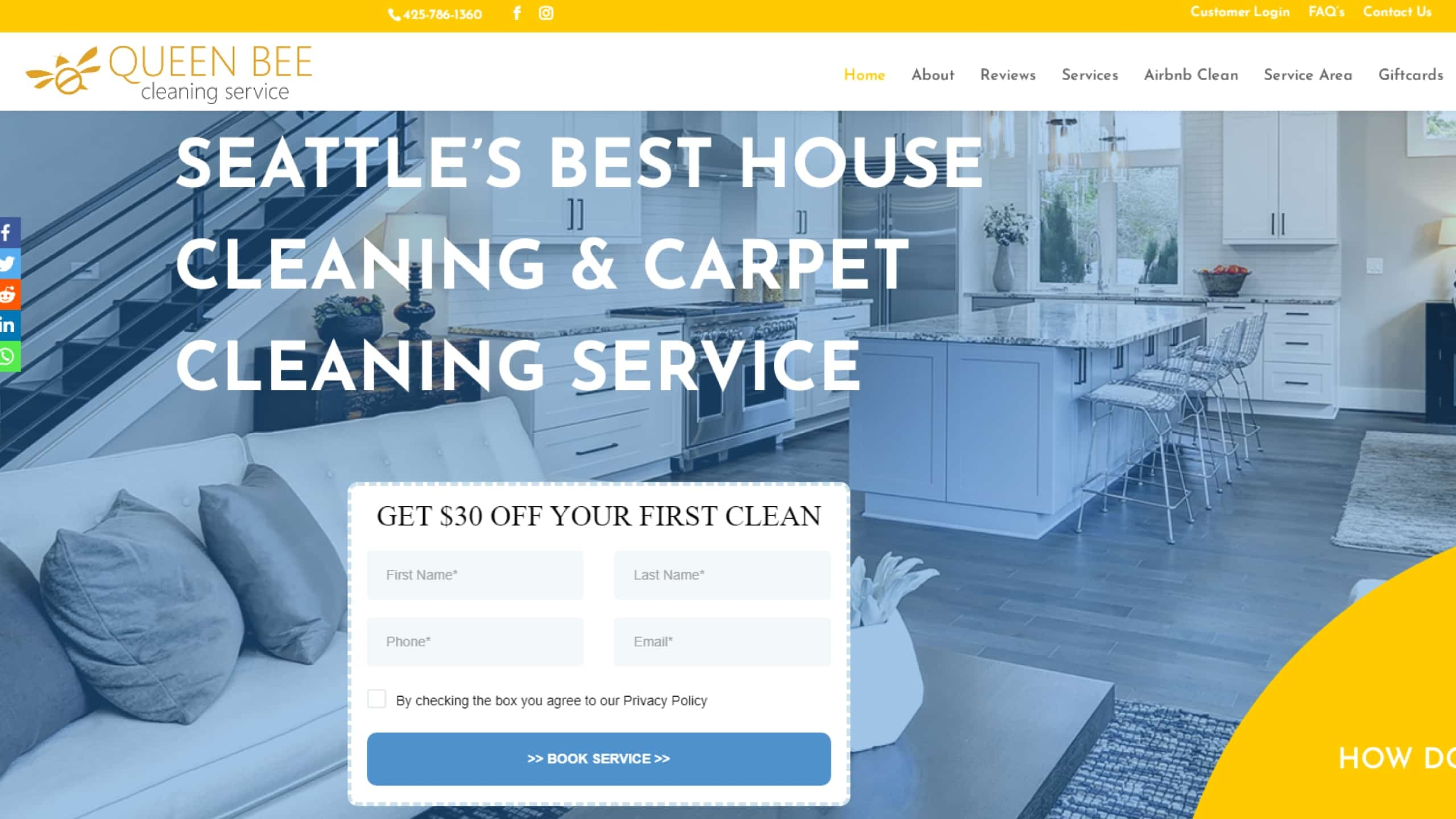 Queen Bee Cleaning Services Seattle  (@airbnb-cleaning-services-seattle) Cover Image