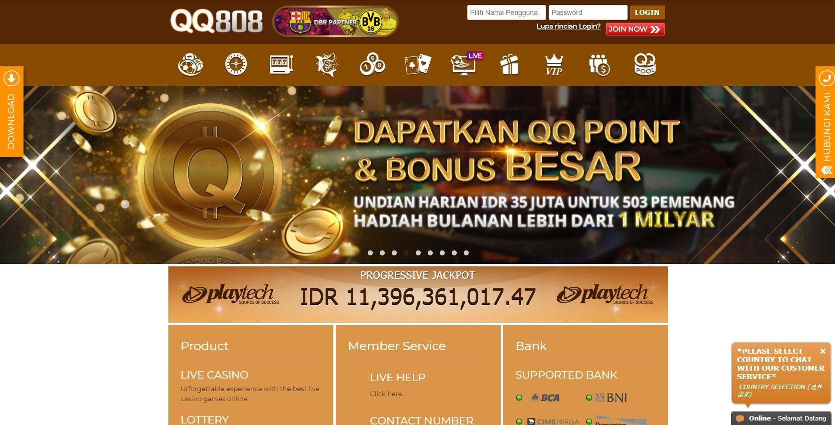 Bandar Judi Online QQ808 (@qq808) Cover Image