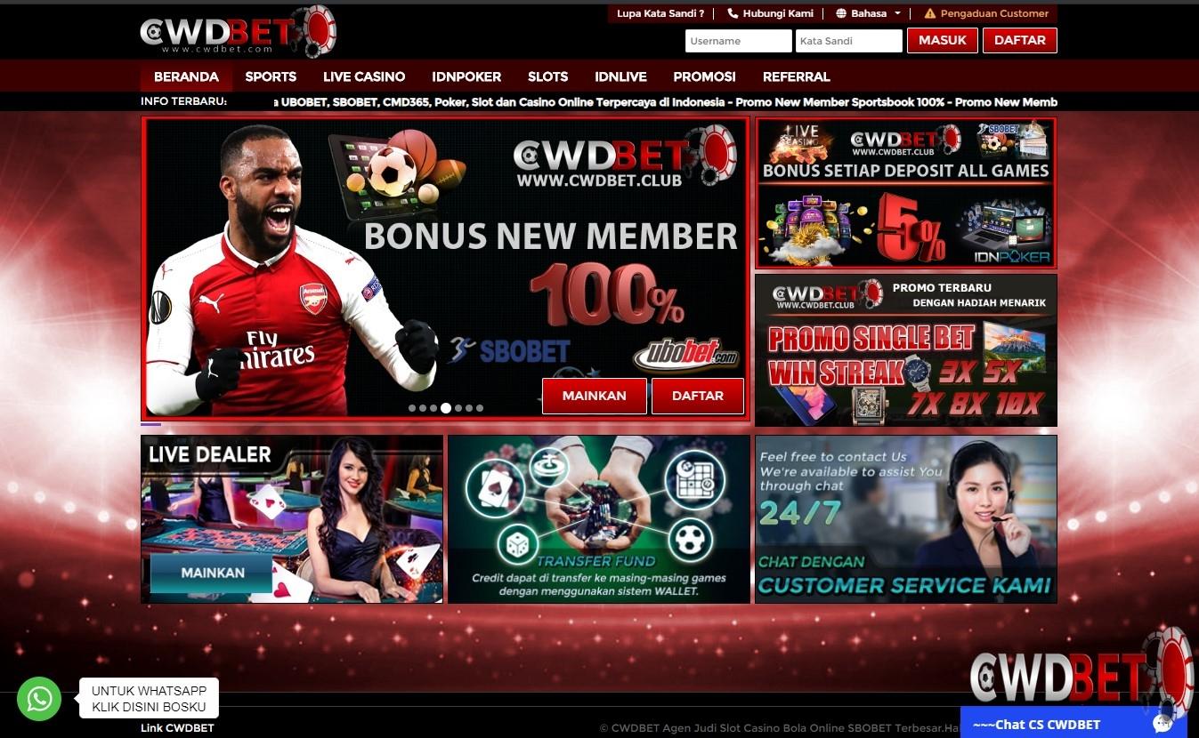 CWDBET Agen Judi Slot Casino Bola Online SBOBET Te (@cwdbola88) Cover Image