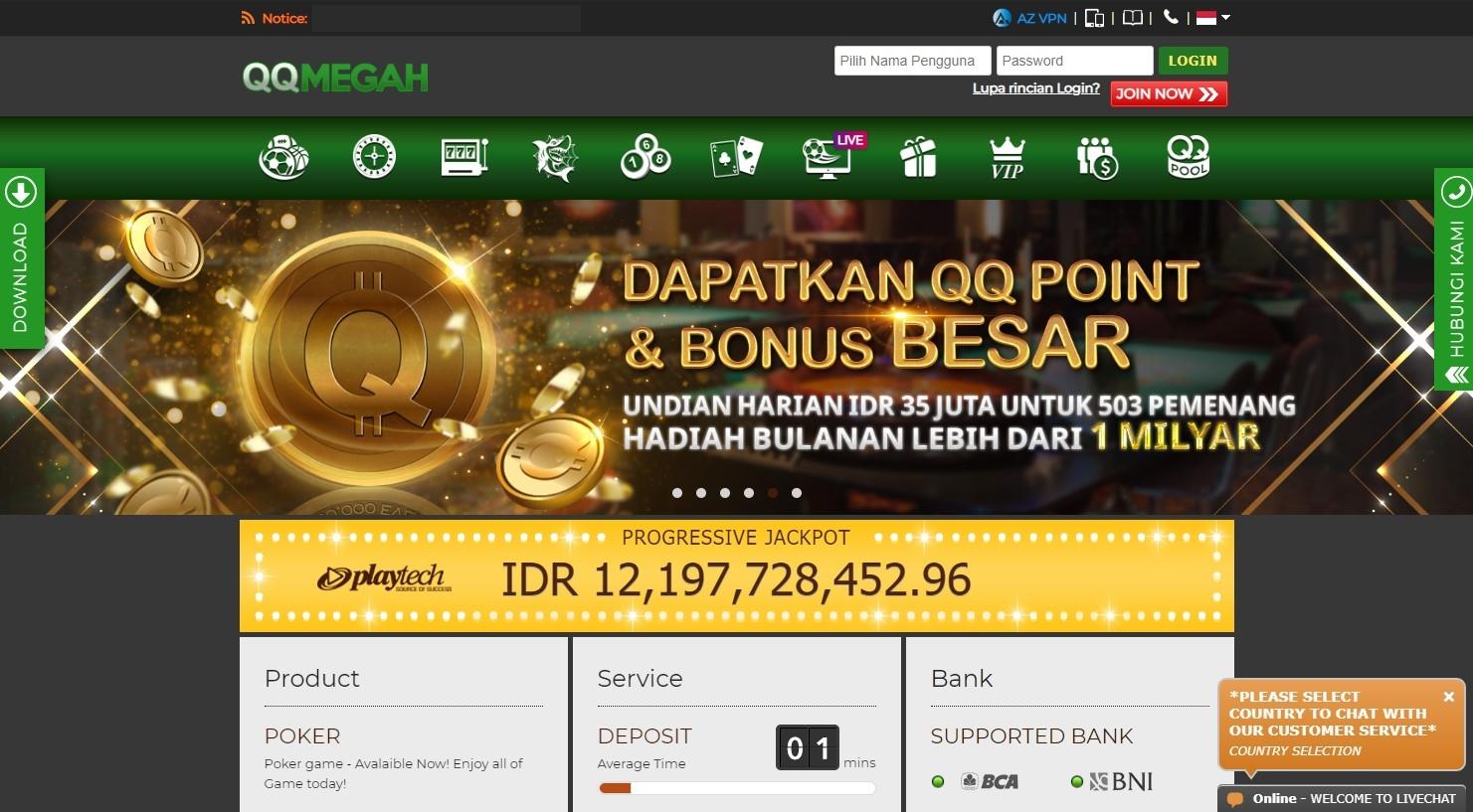 QQMEGAH Situs Judi Slot Bandar Casino Online Terpe (@situsslotonlineqqmegah) Cover Image